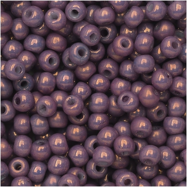 True2 Czech Glass, Round Druk Beads 2mm, 200 Pieces, Chalk Purple Vega