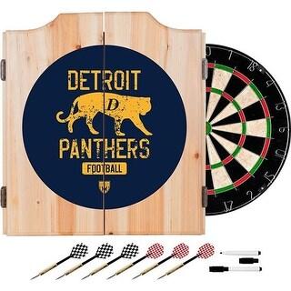 Trademark Global VAF7000-DP Vaf Detroit Panthers Wood Dart Cabinet Set