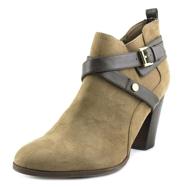 e24d944b51c Shop Tommy Hilfiger Silvia 2 Women Round Toe Canvas Tan Ankle Boot ...