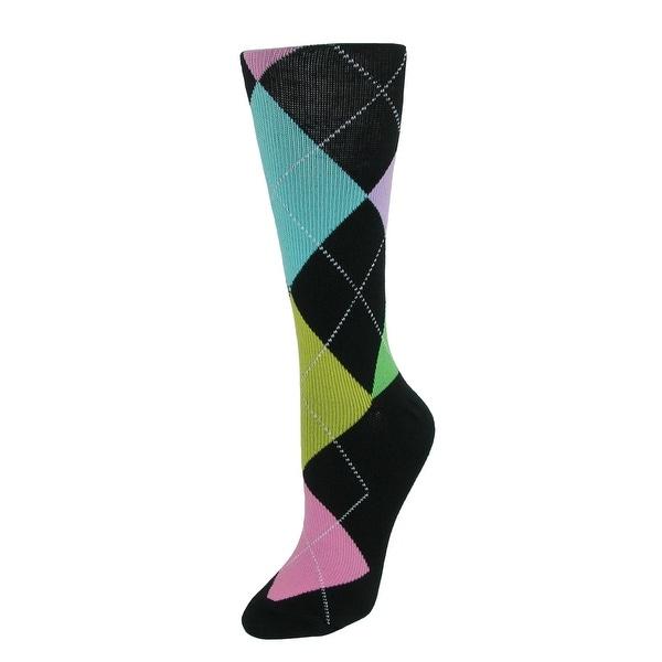 Fine Fit Women's Argyle Compression Socks