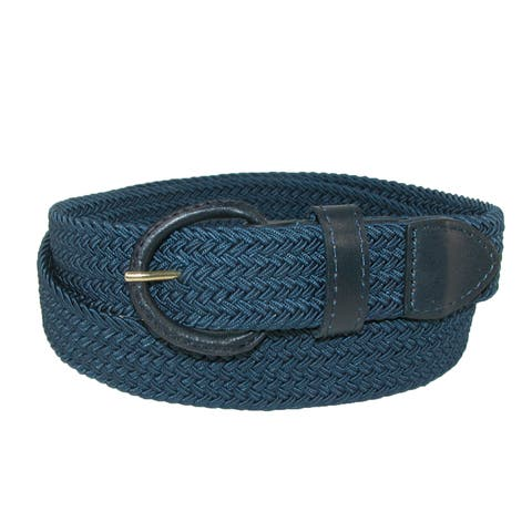 93c370e077838 Hickory Creek Men's Big & Tall Elastic Braided Belt with Covered Buckle