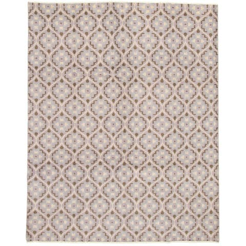 ECARPETGALLERY Hand-knotted Eternity Grey Wool Rug - 8'0 x 10'0