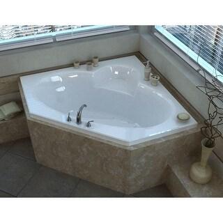 "Avano AV6060SAL St.Martin 58"" Acrylic Air Bathtub for Drop-In Installations with Center Drain - White"