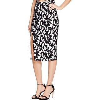 Bardot Womens Pencil Skirt Lace Side Slit