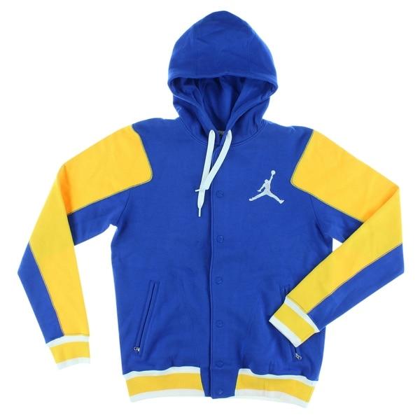 75ae45606a524b Shop Jordan Mens Jordan Varsity Hoodie 2.0 Blue - Blue Yellow White - M -  Free Shipping Today - Overstock - 22545299