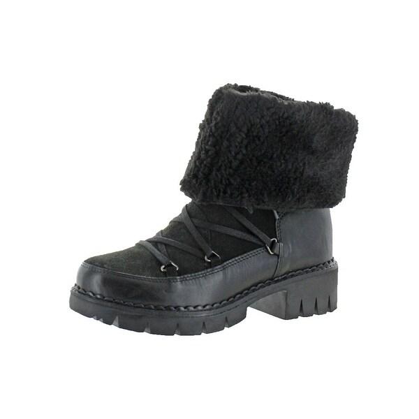 98cdb4630b9 Shop Steve Madden Womens Trillian Combat Boots Ankle Fold Over ...