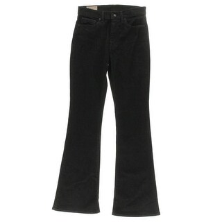 Polo Ralph Lauren Womens Flare Jeans Black Wash Classic Rise