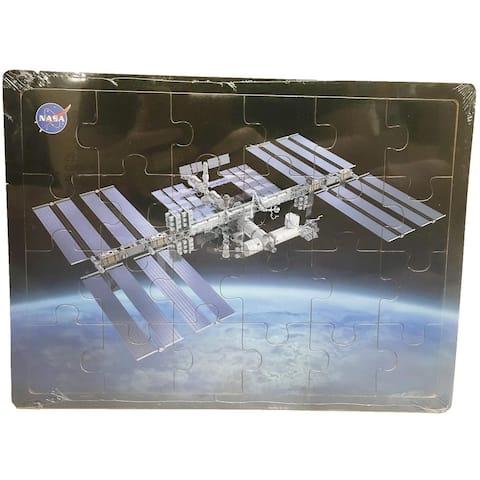 International Space Station 24-pc NASA Wood Puzzle - 9' x 12'