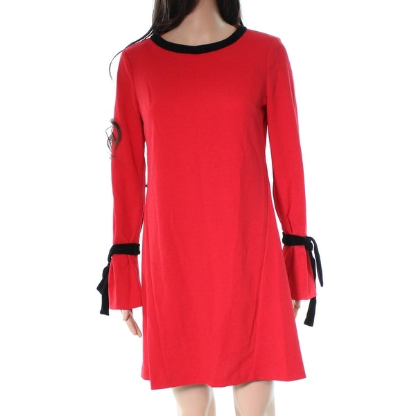 Donna Morgan Red Easy Ruffle Sleeve Women's Size 2 Shift Dress