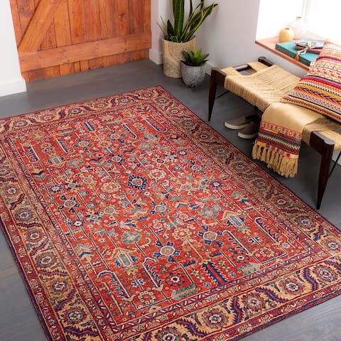 Rawle Traditional Floral Printed Area rug