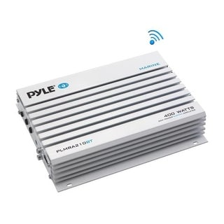 Elite Series Waterproof Bluetooth Amplifier, Bridgeable 400 Watt 2-Channel Amp