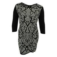 Style & Co. Women's Scroll Print Sweater Dress