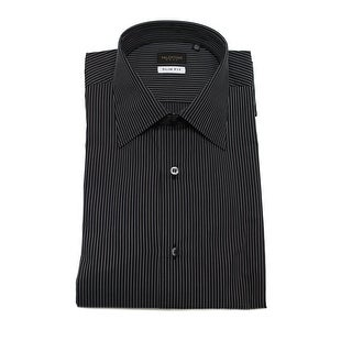 Valentino Men's Slim Fit Cotton Dress Shirt Royal Navy