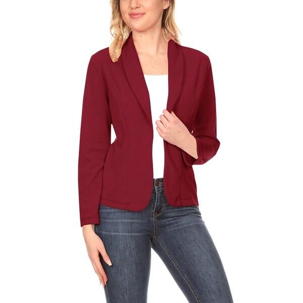 Women's Casual Solid Long Sleeve Blazer Jacket. Opens flyout.