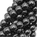 Czech Glass Druk 4mm Round 'Hematite' (100) - Thumbnail 0