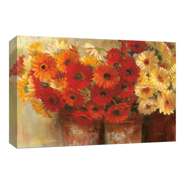 "PTM Images 9-153603 PTM Canvas Collection 8"" x 10"" - ""Chelsea Gerberas"" Giclee Flowers Art Print on Canvas"