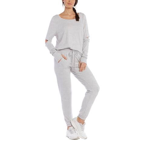 X By Gottex Cutout Pullover - LT. HEATHER GREY