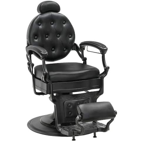 BarberPub Metal Vintage Barber Hydraulic Recline Salon Spa Chair 2933
