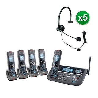 Uniden DECT4086-5 with Headset DECT 6.0 2 Line Cordless Phone System
