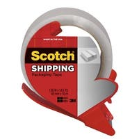 Scotch Shipping Packaging Tape with Dispenser, 1.88 Inches X 54.6 Yards, Clear