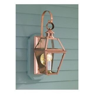 "Norwell Lighting 2253 Old Colony Copper Single Light 22"" Tall Outdoor Wall Sconce with Clear Glass Shade"