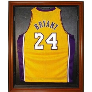Basketball Jersey Deluxe Full Size Display Case Wood