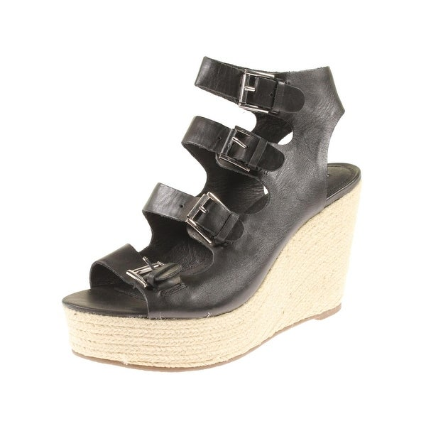 Steve Madden Womens Marney Wedge Sandals Open Toe Strappy - 10 medium (b,m)