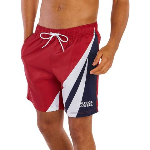 Nautica Mens Logo Beachwear Swim Trunks