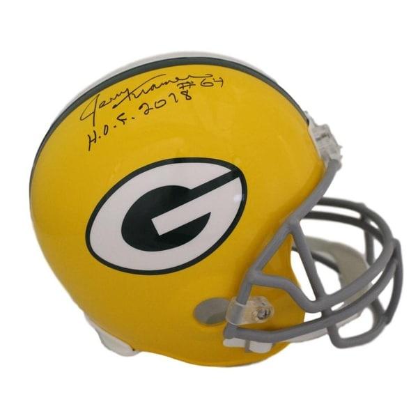 56e1a045b28a0 Shop Jerry Kramer Autographed Green Bay Packers Replica Helmet HOF ...