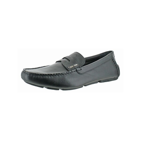Calvin Klein Mens Martyn Loafers Leather Pebbled