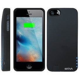Skiva PowerFlow 2000mAh iPhone SE / 5s / 5 Protective Battery Case External Rechargeable Portable Power Bank Pack Charger Cover