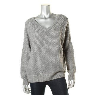 Vince Womens Wool Blend Textured Pullover Sweater