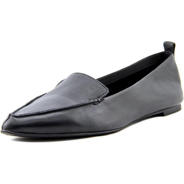 Shop Aldo Galinsky Women Pointed Toe Leather Black Flats