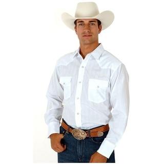Roper Western Shirt Mens Long Sleeve Snap White 01-001-0145-0925 WH