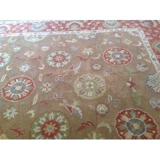 Safavieh Handmade Heritage Timeless Traditional Beige/ Rust Wool Rug (9' x 12')