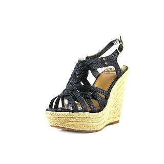 Fergalicious Caprinni Open Toe Canvas Wedge Sandal