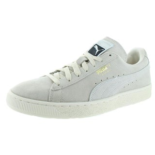 Puma Mens Suede Classic Fashion Sneakers Round Toe Casual (Option: birch/puma white 363242 - 12 medium (d))