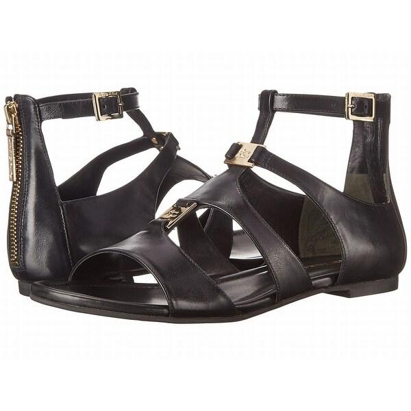 c5036239f03 Shop Pierre Balmain NEW Black Shoes 8.5M Ankle Strap Leather Sandals ...