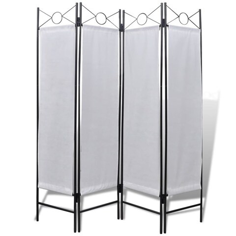 "vidaXL 4-Panel Room Divider Privacy Folding Screen White 5' 3"" x 11"""