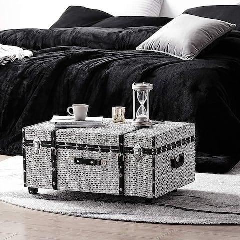 Texture® Brand Trunk - White Threaded Black