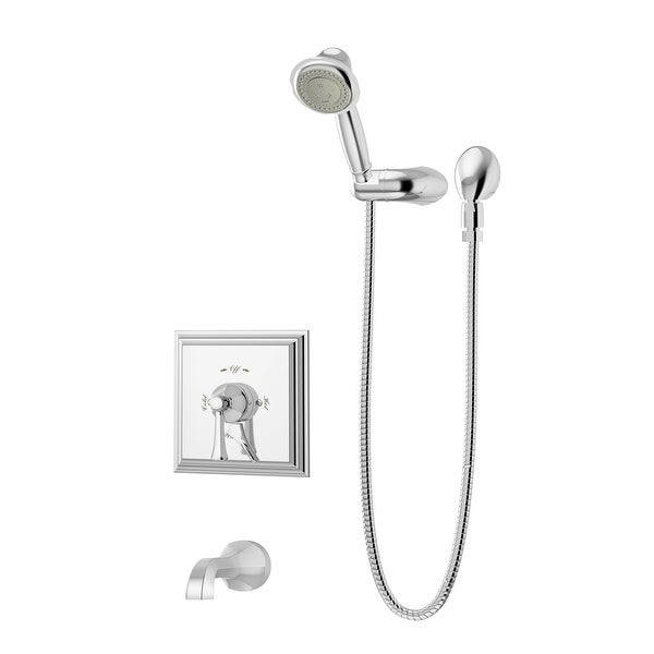 Symmons S-4504 Canterbury Tub and Shower Trim Package with Multi Function Shower Head
