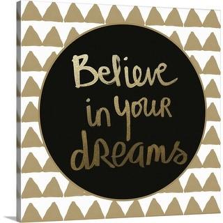 """""""Dreams Gold"""" Canvas Wall Art"""