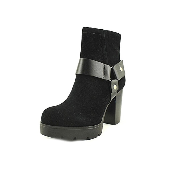 Karl Lagerfeld Paris Womens Fanetta Ankle Boots Round Toe Harness - 9.5 medium (b,m)