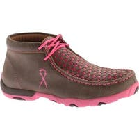Twisted X Boots Women's WDM0026 Driving Moc Bomber/Neon Pink Leather