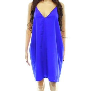 Designer NEW Royal Blue Women's Size XL V-Neck Babydoll Dress Sleepwear