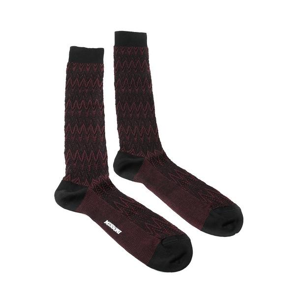 Missoni GM00CMU5239 0004 Marron/Black Knee Length Socks - L