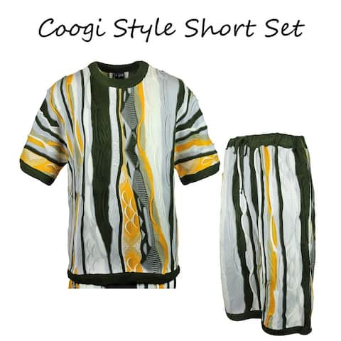Blue Ocean Two-Piece Fashion Sweater-Short Pants Set