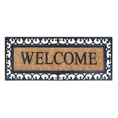 """A1HC Rubber Coir Myla Welcome Entry Double Doormat (17.71"""" X 47.25"""")"""