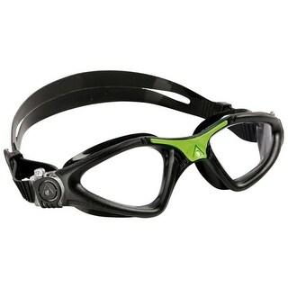 Aqua Sphere Kayenne Clear Lens Swim Goggles - Black/Green