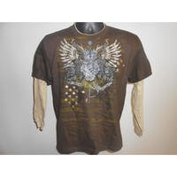 Youth Medium Shirt With Eagles And Other Print